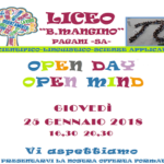 Open Day - Giovedì 25 Gennaio 2018
